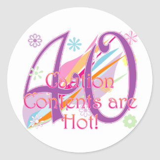40-contents-hot classic round sticker