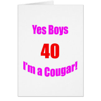 40 Cougar Birthday Card