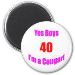 40 Cougar Birthday Fridge Magnet