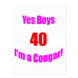 40 Cougar Birthday Postcards