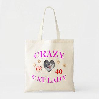 40 Crazy Cat Lady Canvas Bags
