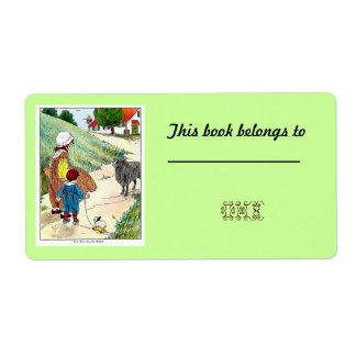 40 Customizable Bookplates /Nameplates Shipping Label