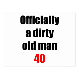 40  Dirty Old Man Postcard