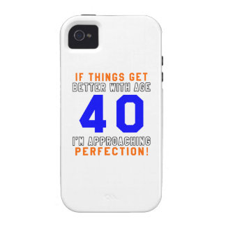 40 diseños del cumpleaños de la perfección iPhone 4 funda