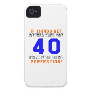 40 diseños del cumpleaños de la perfección iPhone 4 carcasa