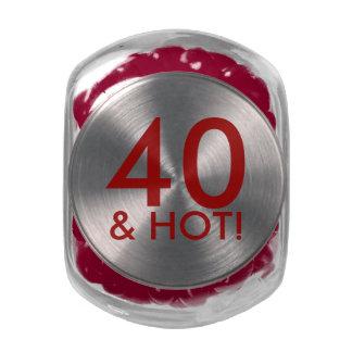 40 divertidos y cumpleaños adaptable caliente del jarrones cristal
