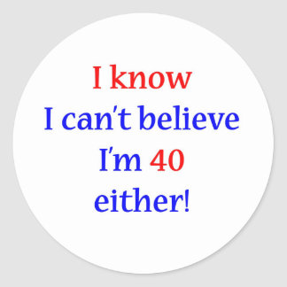 40 Either Classic Round Sticker