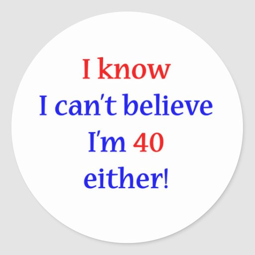 40 Either Round Stickers