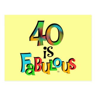 40 es camisetas y regalos fabulosos del cumpleaños postal