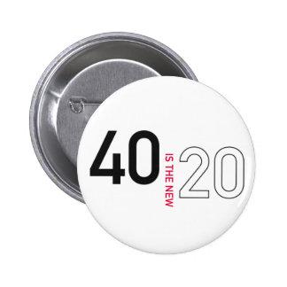 40 es el nuevo botón de 20 pernos