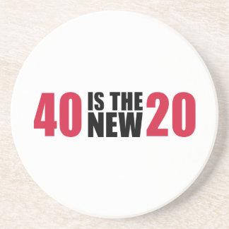 40 es el nuevo cumpleaños 20 posavaso para bebida