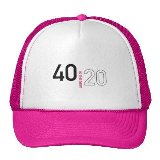 40 es el nuevo gorra 20
