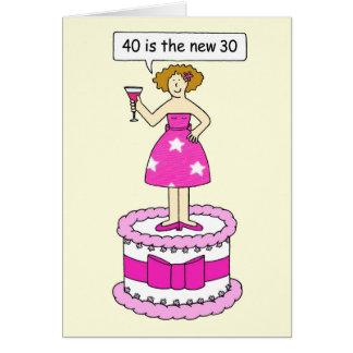 40 es la tarjeta del cumpleaños de las nueva 30