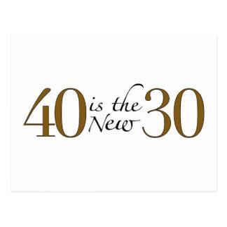 40 es los nuevos 30 postales