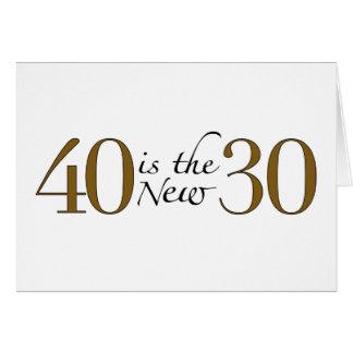 40 es los nuevos 30 tarjeta de felicitación