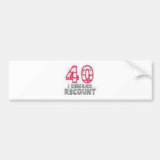 40 exijo diseños del cumpleaños del recuento pegatina para auto