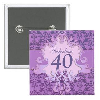 """""""40"""" fabuloso botón/insignia del elefante del pin cuadrado"""