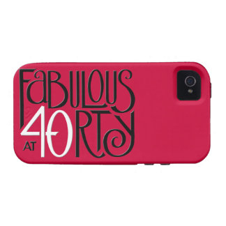 40 fabulosos iPhone rojo blanco negro 4 duro iPhone 4/4S Funda