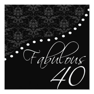 """40 fabulosos personalizaron a la fiesta de invitación 5.25"""" x 5.25"""""""