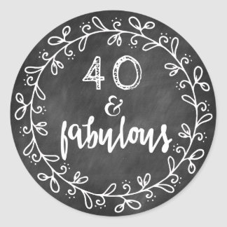 40 & Fabulous 40th Birthday Custom Stickers