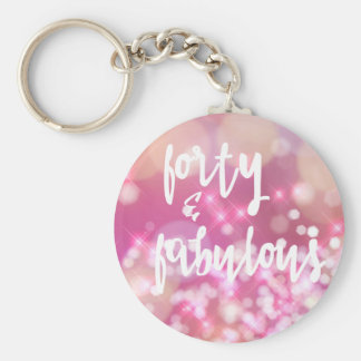 40 & Fabulous - 40th Birthday Keychain