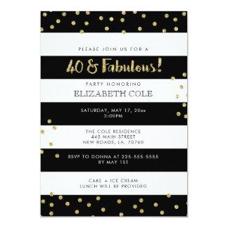 40 & Fabulous Birthday Party Invitations