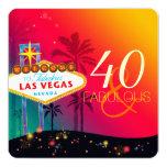 40 & Fabulous Las Vegas Birthday Party Invitations