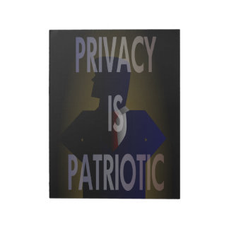 """40 Flyers for """"Privacy is Patriotic"""" Memo Notepads"""