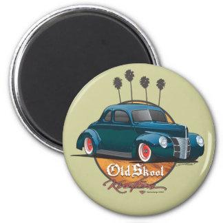 40 Ford Skool viejo Kustom Imán Redondo 5 Cm