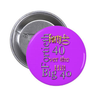 40 forty fortieth 40th party reunion celebration button