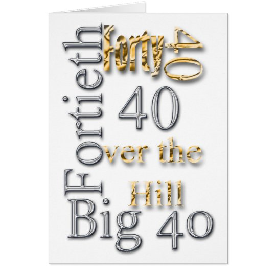 40 forty fortieth 40th party reunion celebration card