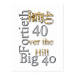 40 forty fortieth 40th party reunion celebration post card