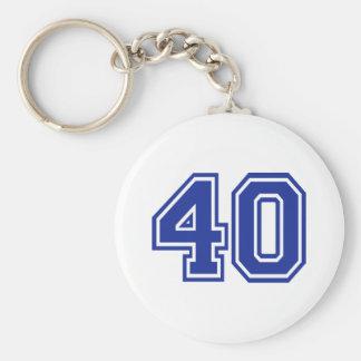 40 - Fourty Basic Round Button Keychain