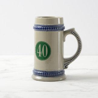 #40 Green Circle Coffee Mug