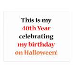 40 Halloween Birthday Post Cards