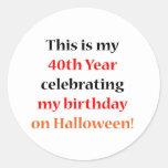 40 Halloween Birthday Sticker