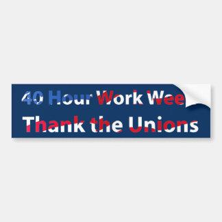 40 Hour Week Bumper Sticker