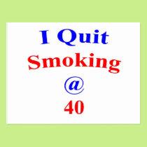 40 I Quit Smoking Postcard