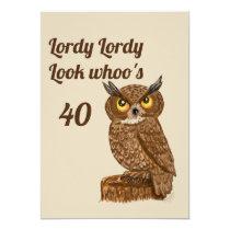 40 invite birthday owl
