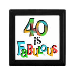 40 is Fabulous Birthday T-shirts and Gifts Jewelry Box