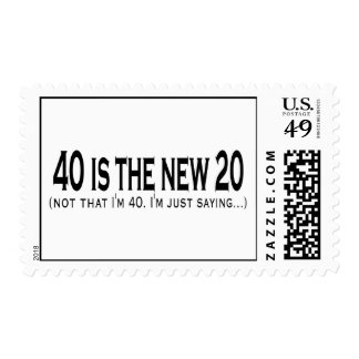40 is the new 20 postage