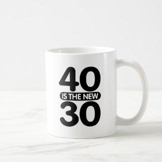 40 Is The New 30 Classic White Coffee Mug