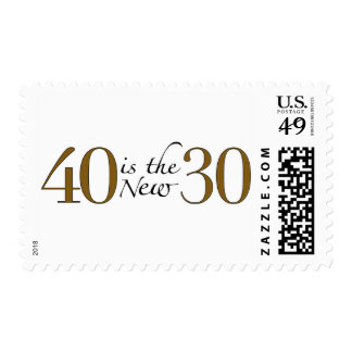 40 is the new 30 stamp