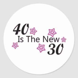 40 is the new 30 stickers