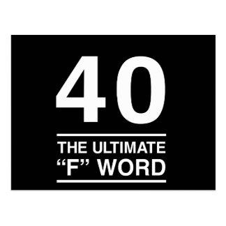 40 la última palabra de F Tarjetas Postales