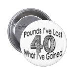 40 libras de botón perdido pins