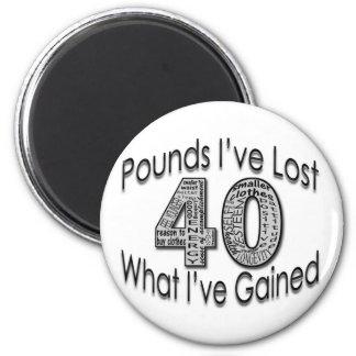 40 libras de imán perdido