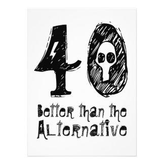 40 mejor que el cumpleaños divertido Q40 de la Comunicado Personalizado