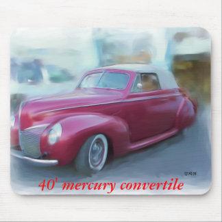 40' mercury convertible mouse pad
