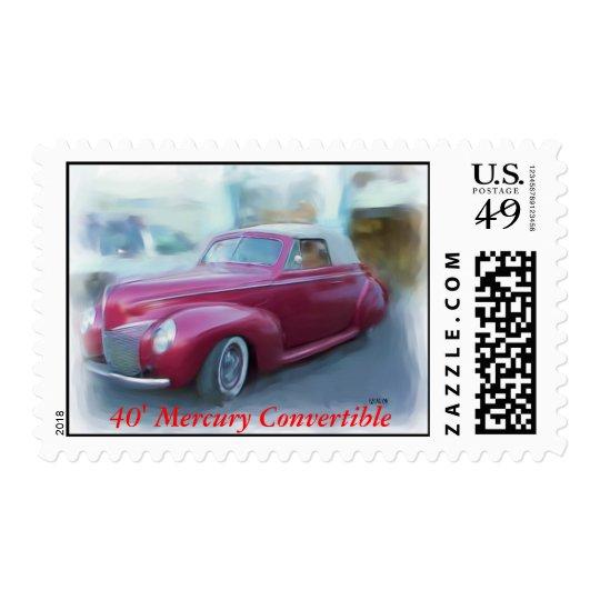 40' Mercury Convertible Postage